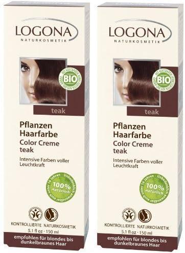 Logona Color Creme teca Henna Tinte para cabello Tintura de ...