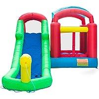 Lovinland Inflatable Water Slide Pool Bounce House Jumper Castle (18.7ft x 11.6ft x 8.2ft)