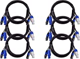 Blizzard Lighting 6 Ft PowerCon 3-Pin DMX Combo Cable 6-Pack
