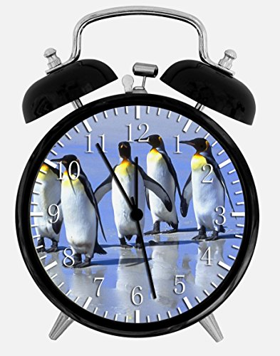 (Cute Penguins Alarm Desk Clock 3.75