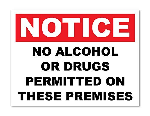 hiusan 2 X No Alcohol Or Drugs- Warning Sticker - Health & Safety Signs Business from hiusan