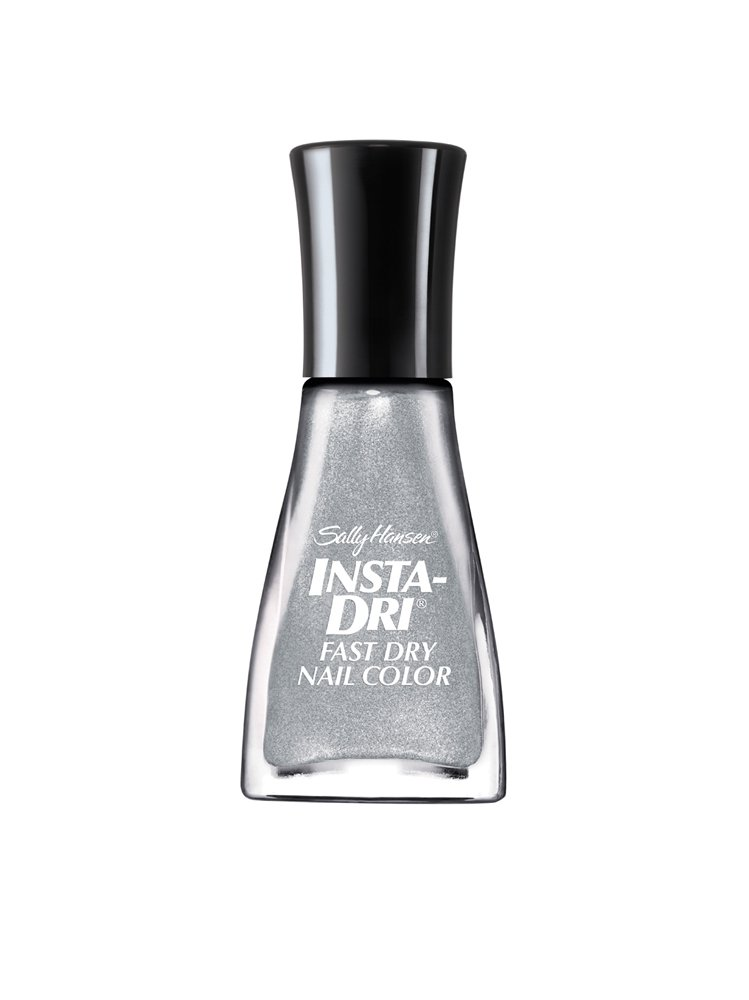 Sally Hansen Insta-Dri Fast Dry Nail Color, Silver Sweep, 0.31 Fluid Ounce