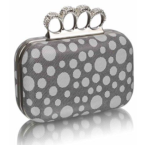 Beads Wedding Handbag LeahWard Purse Ceremony Night GREY Clutches Clutch DOT Diamante Luxury For Women's Out CLUTCH zwqanq1Ec