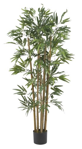 Nearly Natural 5280 Multi Bambusa Bamboo Silk Tree, 4-Feet, Green