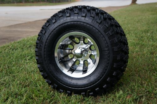 "2004+ Club Car Precedent Golf Cart 6"" Lift Kit + 10"" Wheels and 22"" All Terrain Tires (4)"