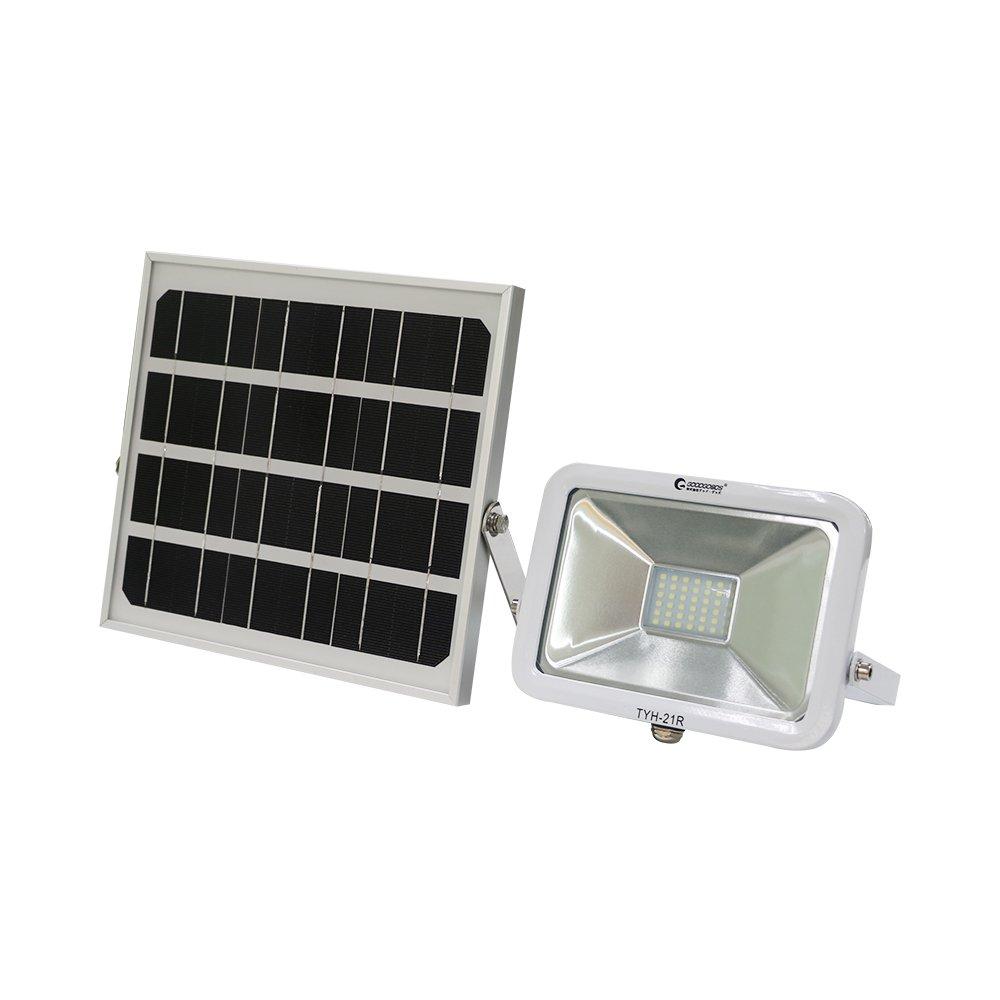 実用新案登録済み GOODGOODS 充電式 LED ガーデンライト 25W 250W相当 電池交換式 ソーラーライト 屋外 防水 ソーラー投光器 防犯灯 【一年保証】 TYH-21R B0769DD3GQ 11880