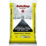 Safe Step Rock Salt Ice Melter Sodium Chloride (Rock Salt) Melts Ice Down To 5 F / -15 C 25 Lbs.