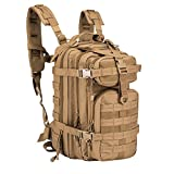 Tactical Backpack - ARMYCAMOUSA Military Tactical Backpack, Small 3 Day Army Molle Assault Rucksack Pack for Outdoors, Hiking, Camping, Trekking, Bug Out Bag & Travel