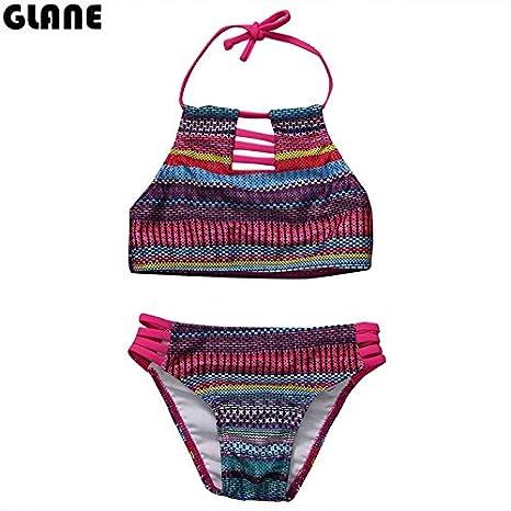 a7d0d5713db6 CUSHY Niños Calientes y Suit Chicas en Bikini Traje de Playa a Rayas ...