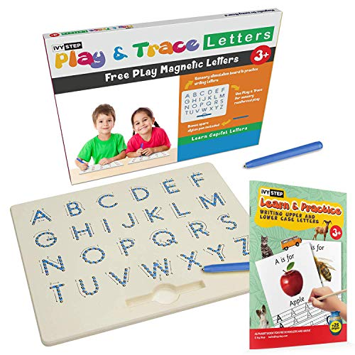 (Ivy Step Magnetic Alphabet Letter Tracing Board with Two Stylus Pens )