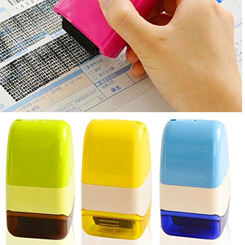 MAZIMARK-1 Plus Guard Your ID Roller Stamp SelfInking Stamp Messy Code Security - Park Bay Mall