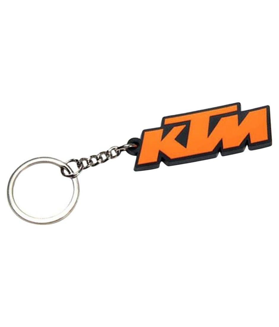 Eshop24x7 ktm orange black logo rubber keychain amazon in bags wallets luggage