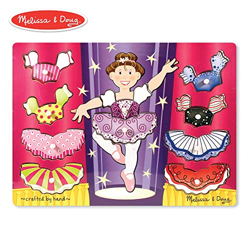 Melissa & Doug Ballerina Dress-Up Wooden Peg Puzzle