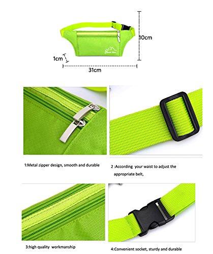 dushow Outdoor Fitness Trainings Reisen Multi-Funktionelle Sport Running Taille Gürteltasche Tasche grau e7vyRF0