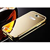 AE (TM) Luxury Metal Bumper + Acrylic Mirror Back Cover Case For SAMSUNG GALAXY NOTE 2 7100 GOLD PLATED