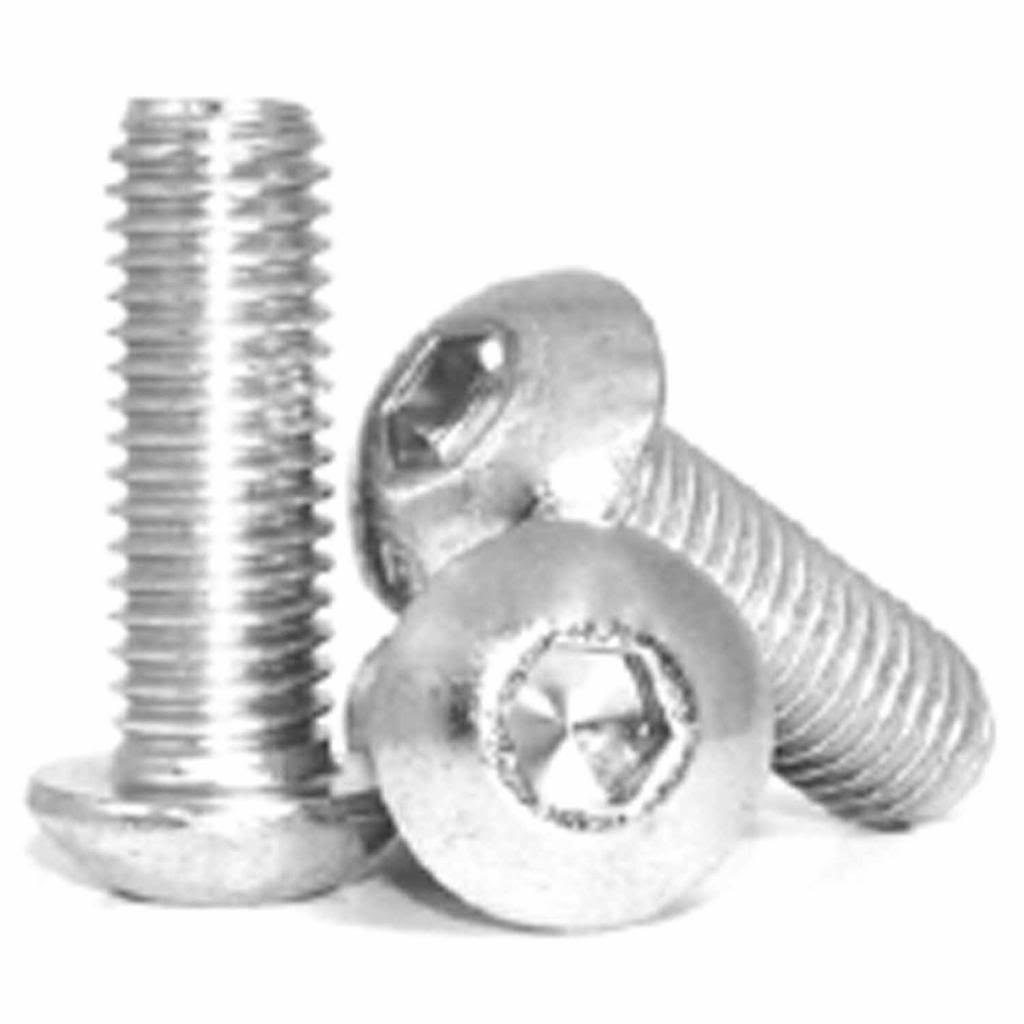 16mm Metric socket button head Stainless steel 18-8 A-2 50 pcs M6-1.00mm