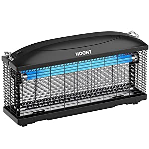 Hoont Powerful Electric Indoor Bug Zapper and Fly Zapper Catcher Killer Trap – Protects 6,000 Sq. Ft / Bug and Fly Killer, Insect Killer, Mosquito Killer – For Residential and Commercial Use