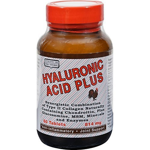 Only Natural Hyaluronic Acid Plus - 814 mg - 60 Tablets pack of - 5