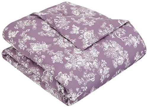 Pinzon 170 Gram Velvet Flannel Duvet Cover – King, Floral Lavender