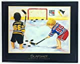 NHL Hockey Wayne Gretsky and Mario Lemieux Print Framed F6512A