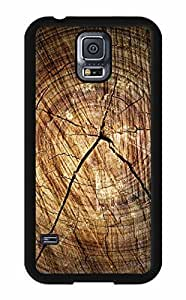 iZERCASE Cracked Wood Pattern RUBBER Samsung Galaxy S5 Case - Fits Samsung Galaxy S5 T-Mobile, AT&T, Sprint, Verizon and International