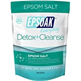 Epsoak Everyday Epsom Salts - 2 lbs. Detox + Cleanse Bath Salts - Scented Epsom Salt for Bath, Spa, Shower Feet