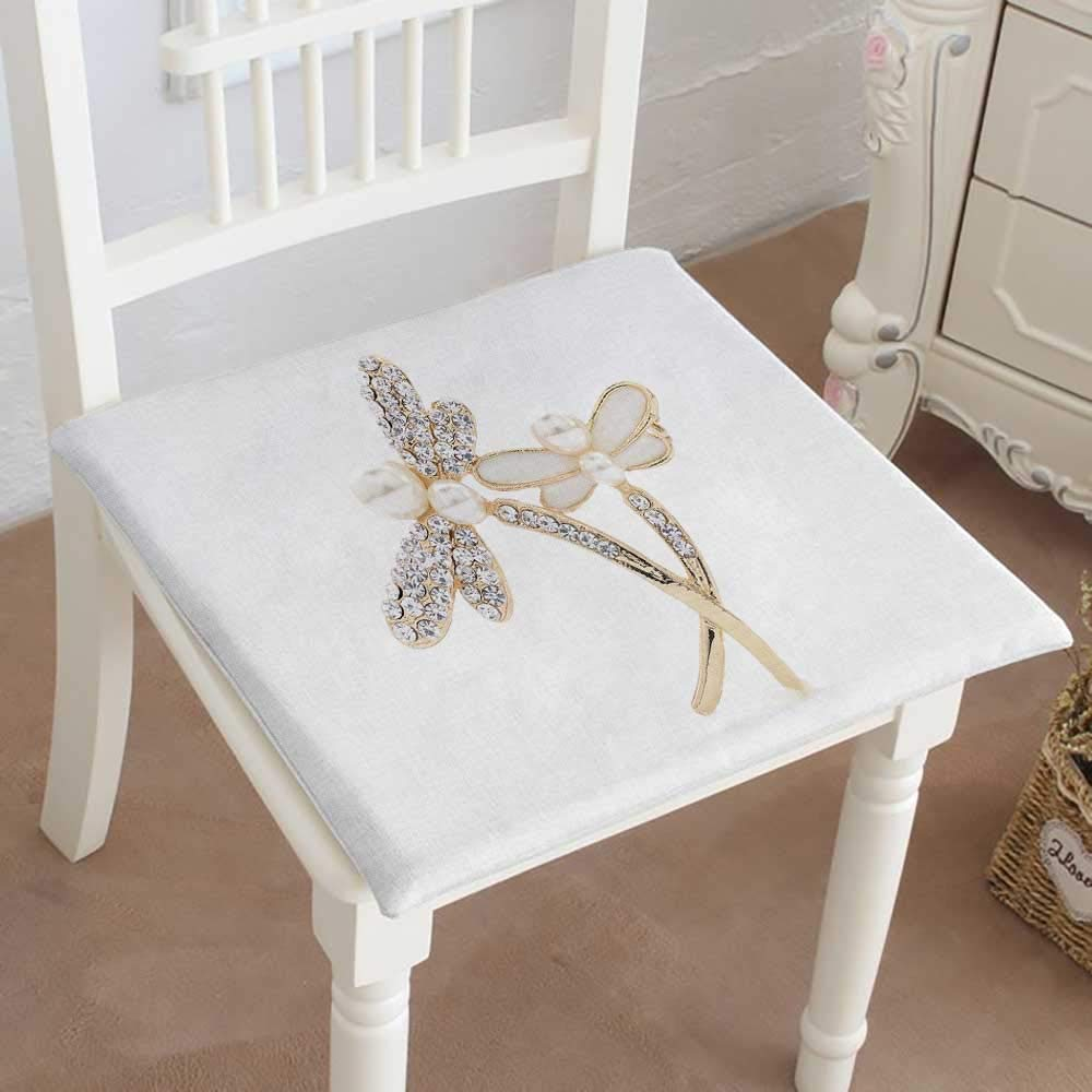買物 Mikihome クッション ブローチ 白い背景に蝶 一部予約 室内 庭 テラス ホーム キッチン オフィス シートパッド パッド 14インチx14インチx2個 16