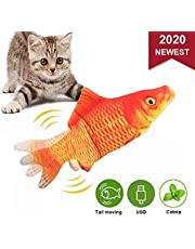 4YANG Realistic Plush Simulation Electric Fish, Cat Kicker Fish Toy, Funny Interactive Pets Chew Bite Supplies para Cat Toy Catnip Toys