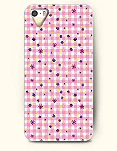 OOFIT Phone Case design with Pink Plaid Pattern and Mini Flower for Apple iPhone 5 5s 5g by icecream design