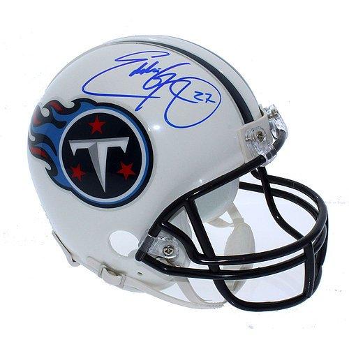 Signed Titans Mini Helmet (Eddie George Autographed Tennessee Titans Replica Mini Helmet - Certified Authentic)