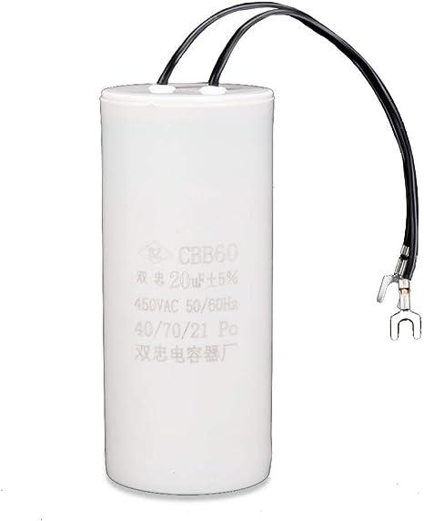 Condensatore Motore 450V 20 UF CBB60