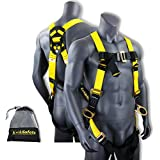 KwikSafety (Charlotte, NC) THUNDER Safety Harness   ANSI OSHA Full Body Personal Fall Protection 1 Dorsal Ring 2 Side D-Rings & Pass Through Buckle Straps Construction Industrial Tower Roofing Tool