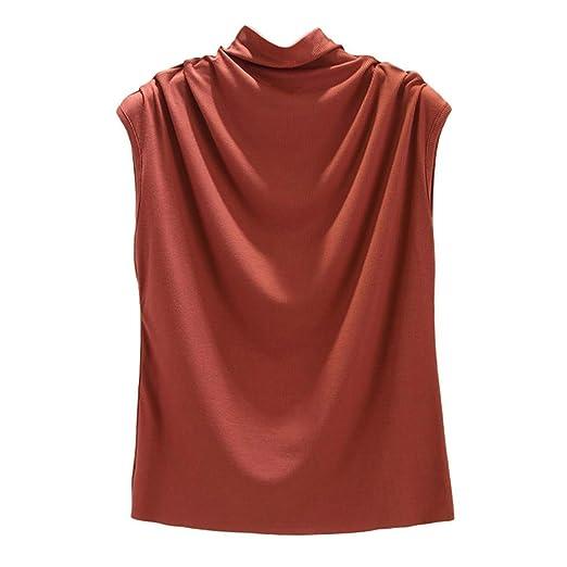 Caren Camiseta Sin Mangas De Cuello Alto De Cuello Alto para Mujer ...