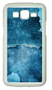 Blue Stains Polycarbonate Hard Case Cover for Samsung Grand 2/7106 White