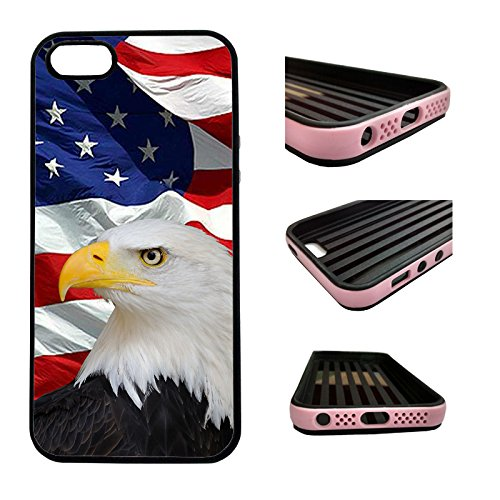 CorpCase iPhone SE / 5 / 5S / 5SE Case - Bald eagle usa flag distressed/ Hybrid ULTRA Protective iphone 5/5S/5SE Case With Great Style - Features Unique 2-in-1 Hybrid protection with TPU+Plastic