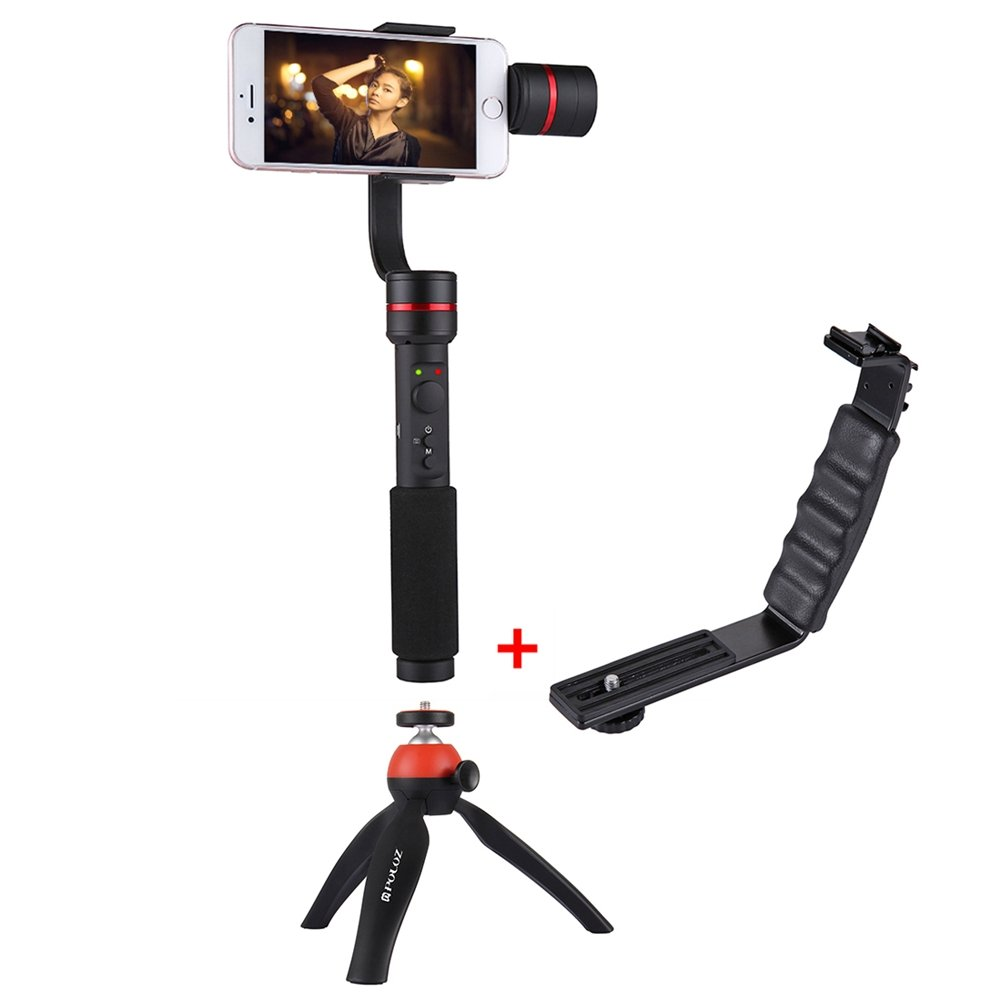 360 Degrees 3-Axis Handheld Selfie Phone Gimbal Steadicam Mount+L Bracket by TSLEEN