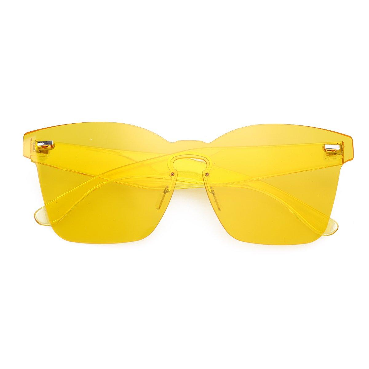 b186f87c1642 OULII Rimless Sunglasses Novelty Pratical Beach Seaside Sunglass Mirror  Summer Eyewear for Men Women (Yellow): Amazon.ca: Luggage & Bags