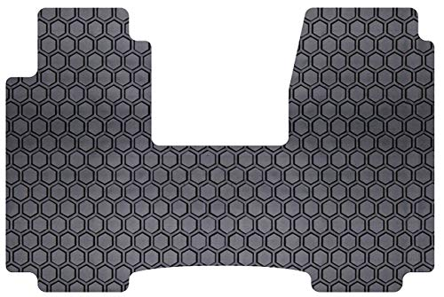 Intro-Tech Hexomat Front Row Custom Floor Mat for Select Chevrolet Van - Full Size Models - Rubber-like Compound - Savana Van Gmc 2000