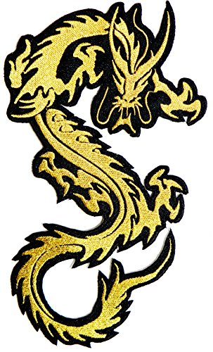 Chinese Dragon Patch Large Iron On Embroidered Sew On Jacket T-Shirt Biker Badge
