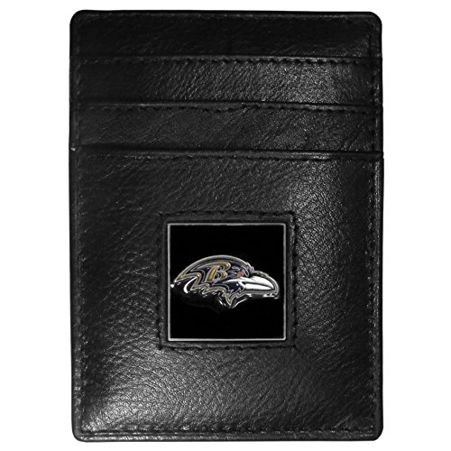NFL Tennessee Titans Leather Money Clip/Cardholder Packaged in Gift Box, Black, Slim - Card Tennessee Titans Nfl Football