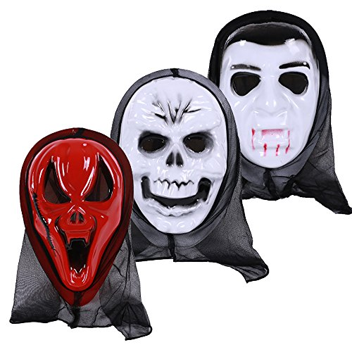 Supersoft Doa Mask (ZENICHAM Halloween Horror Mask Pack of 3)