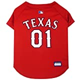 Pets First MLB Texas Rangers Dog Jersey, Medium