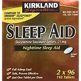 Kirkland Signature Sleep Aid Doxylamine Succinate 25 Mg, 192-Count