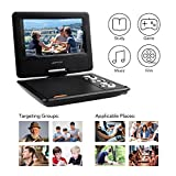 APEMAN 7.5'' Portable DVD Player with Swivel Screen Support SD card USB CD DVD AV Input/Output Earphone Speaker Port 5 Hours Built-in Rechargeable Battery Remote Control for TV Kids Car