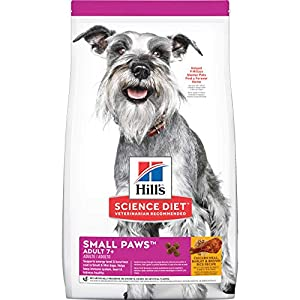 Hill's Science Diet Dry Dog Food, Adult 7+ for Senior Dogs, Small Paws, Chicken Meal, Barley & Brown Rice Recipe