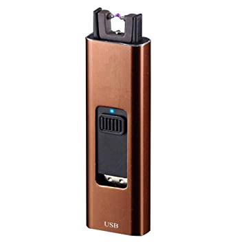 Encendedor de plasma, TEEPAO resistente al viento sin llama recargable por USB encendedor de arco con indicador de batería, encendedor de cigarrillos ...