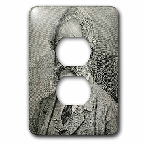 3dRose lsp_83151_6 Werner Von Siemens, German Engineer, 19th C Engraving Hi13 Pri0343 Prisma 2 Plug Outlet Cover