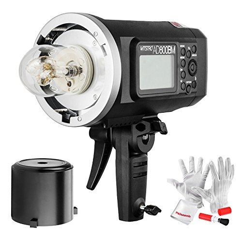 Godox AD600BM Bowens Mount 600Ws GN87 High Speed Sync Outdoor Flash Strobe Light with 2.4G Wireless X System, 8700mAh Battery to Provide 500 Full Power Flashes Recycle in 0.01-2.5 Second ()