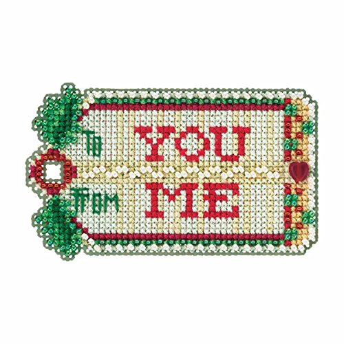 Mill Hill Gift Tag Beaded Counted Cross Stitch Christmas Ornament Kit 2017 Winter Holiday MH181735