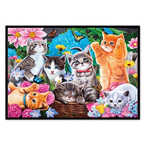 Pausseo New DIY Diamond Animal Painting Embroidery Part Roun